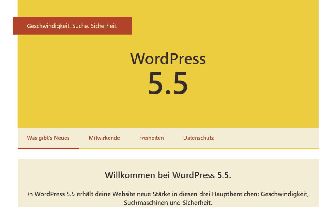 WordPress Version 5.5 – was ist neu?