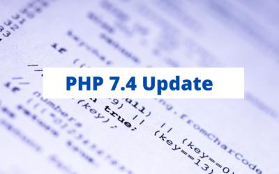 WordPress und PHP 7.4
